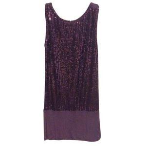 Gracia Fashion Purple Sequin Dress